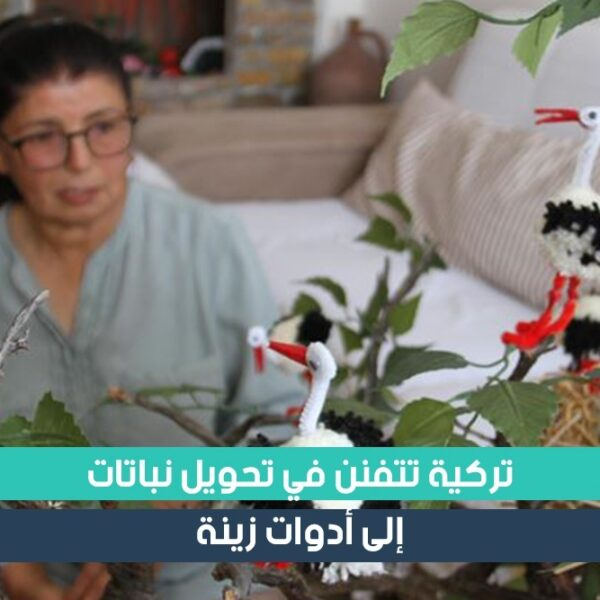 تركية تبدع في تحويل النباتات الى ادوات زينة