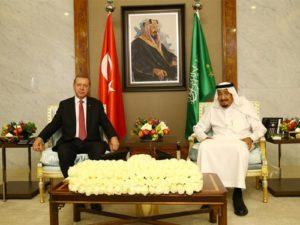 الملك سلمان وولي عهده يهنئان أردوغان
