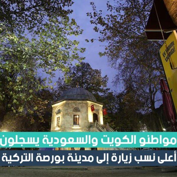 مواطنو الكويت والسعودية يسجلون أعلى نسب زيارة إلى مدينة بورصة التركية