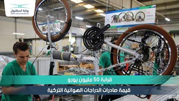 قرابة 50 مليون يورو قيمة صادرات الدراجات الهوائية التركية