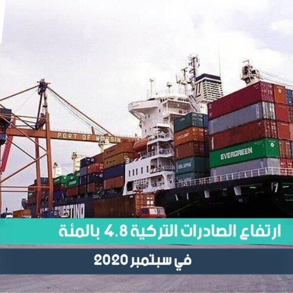 ارتفاع الصادرات التركية 4.8 بالمئة في سبتمبر 2020