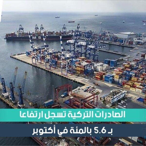 الصادرات التركية تسجل ارتفاعاً في أكتوبر