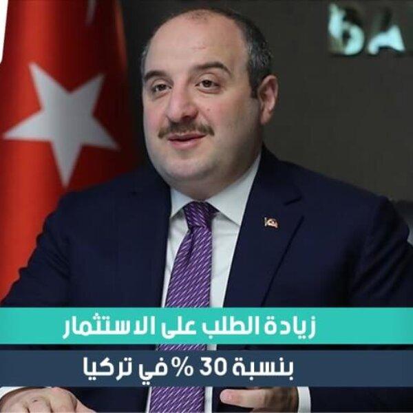 زيادة الطلب على الاستثمار 30 في المئة في تركيا